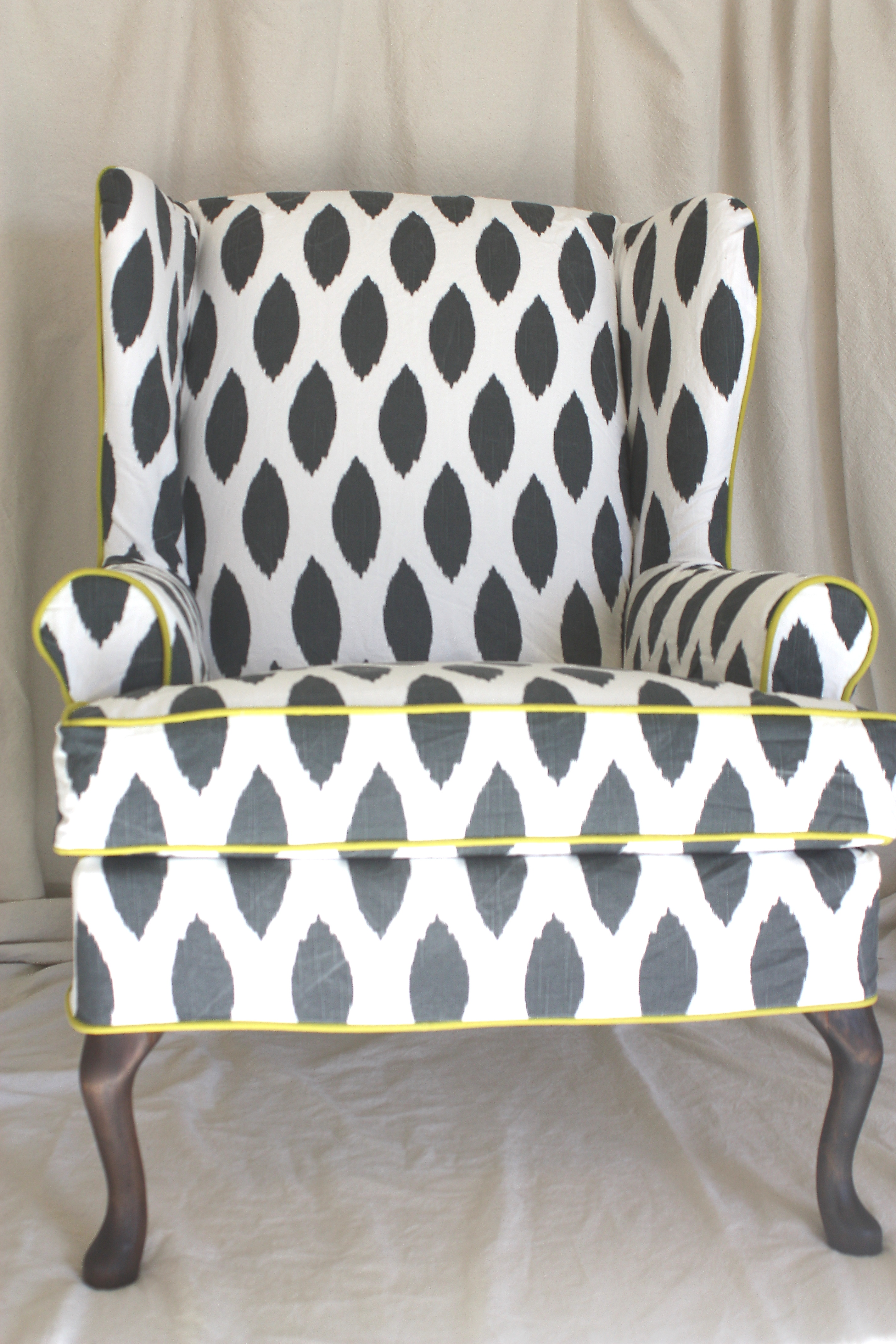 Ikat Dot Wing Chair