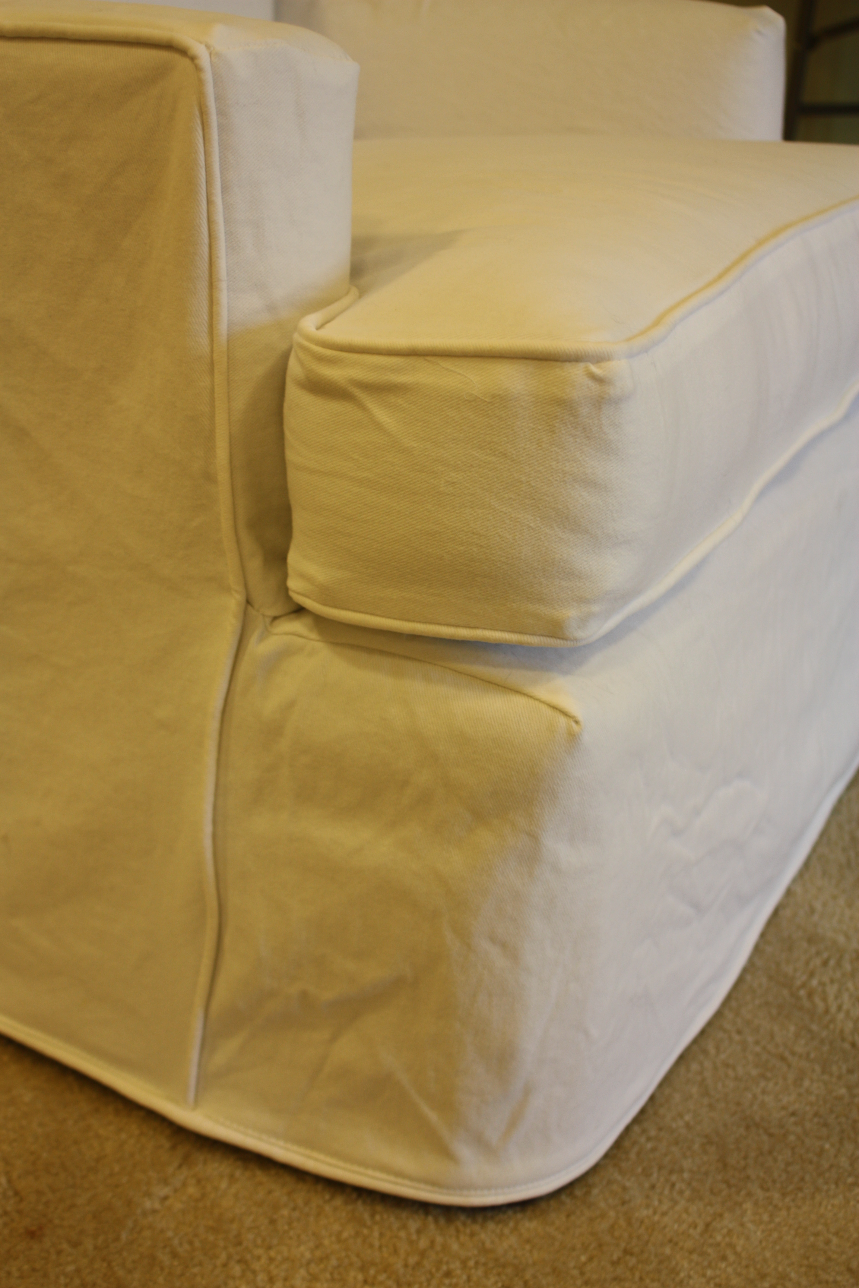 How To Slipcover An Ottoman